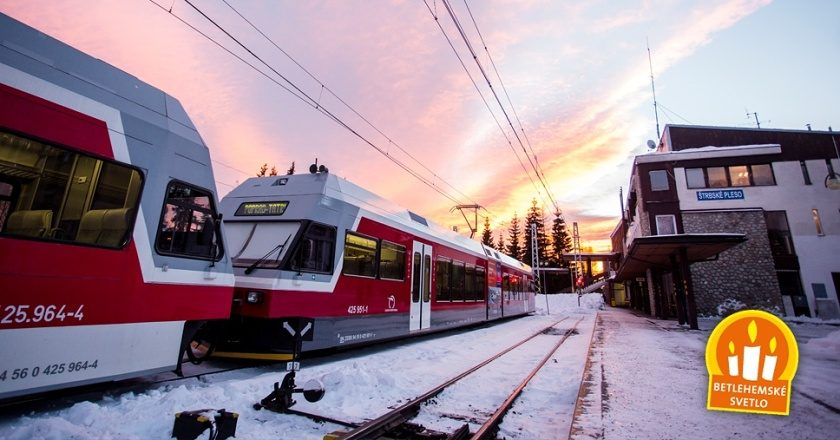 Kompletný zoznam vlakových spojení, ktorými bude tento rok Betlehemské svetlo cestovať